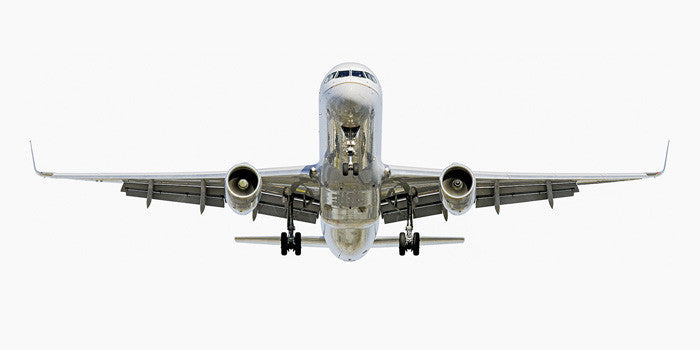 Jeffrey Milstein - Continental Boeing 757-200 (front view), Archival Inkjet Print Mounted on Archival Substrate, Framed in White with Plexiglass,  - Bau-Xi Gallery