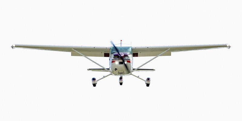 Jeffrey Milstein - Cessna 182 (front view) - Available in 4 sizes, Archival Inkjet Print Mounted on Archival Substrate, Framed in White with Plexiglass,  - Bau-Xi Gallery