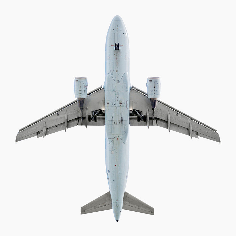 Jeffrey Milstein - Air Canada Airbus A319, Archival Inkjet Print Mounted on Archival Substrate, Framed in White with Plexiglass,  - Bau-Xi Gallery