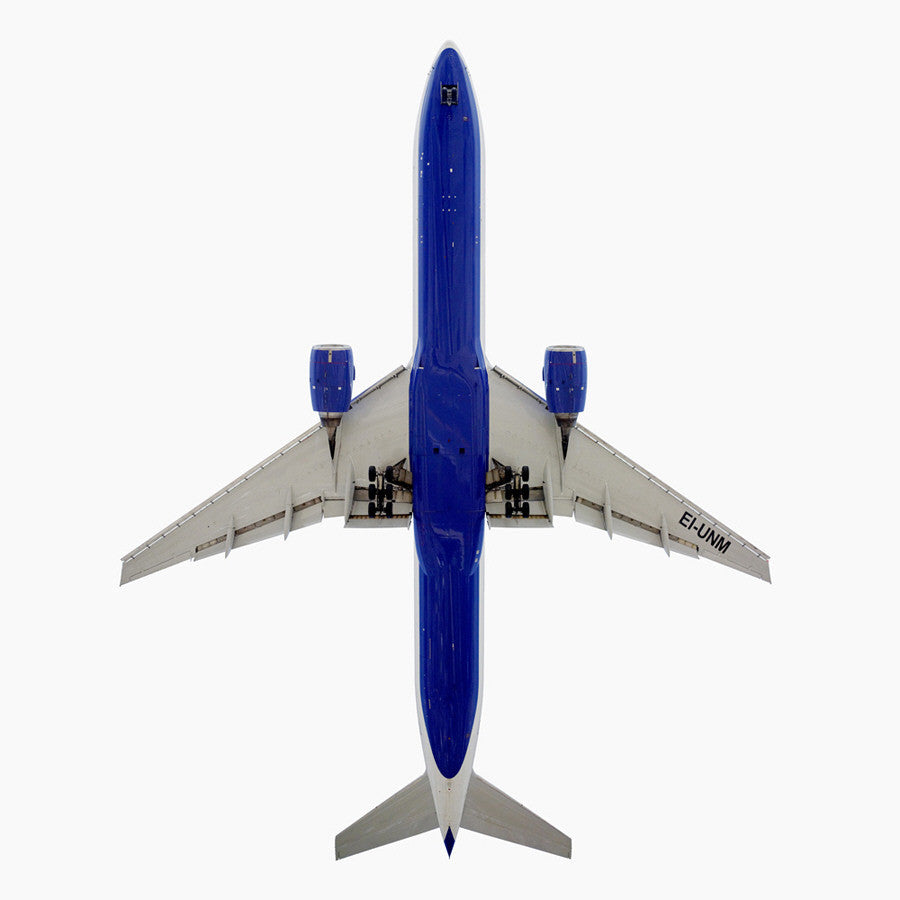Jeffrey Milstein - Transaero Airlines Boeing 777-300 - Available in 5 sizes, Archival Inkjet Print Mounted on Archival Substrate, Framed in White with Plexiglass,  - Bau-Xi Gallery