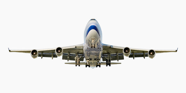 Jeffrey Milstein - China Airlines Boeing 747-400 (Front View), Archival Inkjet Print Mounted on Archival Substrate, Framed in White with Plexiglass,  - Bau-Xi Gallery