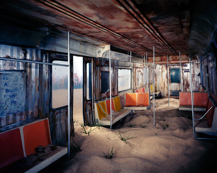 Lori Nix - Subway, Chromogenic Print Mounted to Archival Substrate, Framed in White with Plexiglass,  - Bau-Xi Gallery