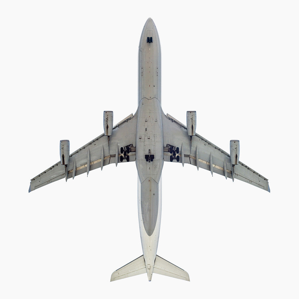 Jeffrey Milstein - Lufthansa Airbus A340-300 - Available in 4 sizes, Archival Inkjet Print Mounted on Archival Substrate, Framed in White with Plexiglass,  - Bau-Xi Gallery