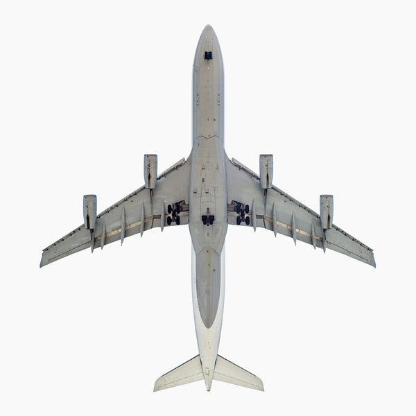 Jeffrey Milstein - Lufthansa Airbus A340-300, Archival Inkjet Print Mounted on Archival Substrate, Framed in White with Plexiglass,  - Bau-Xi Gallery