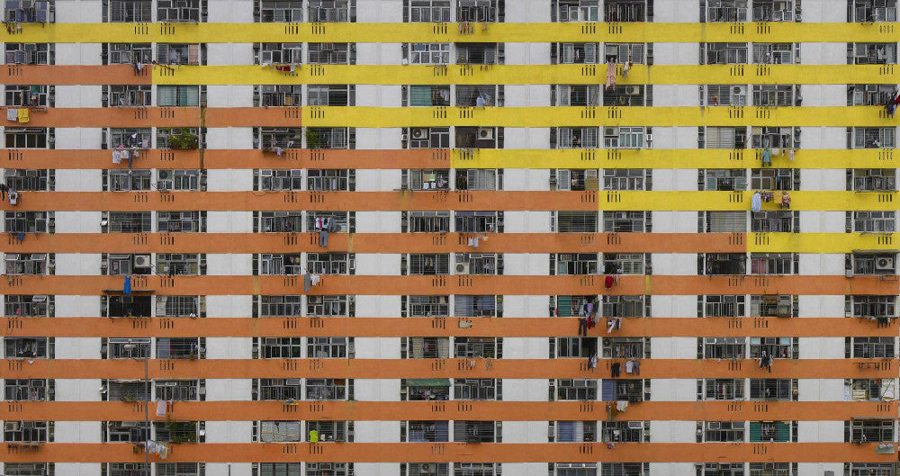 Michael Wolf - Architecture of Density 108, Chromogenic Print Mounted to Archival Substrate, Framed in Black with Plexiglass,  - Bau-Xi Gallery
