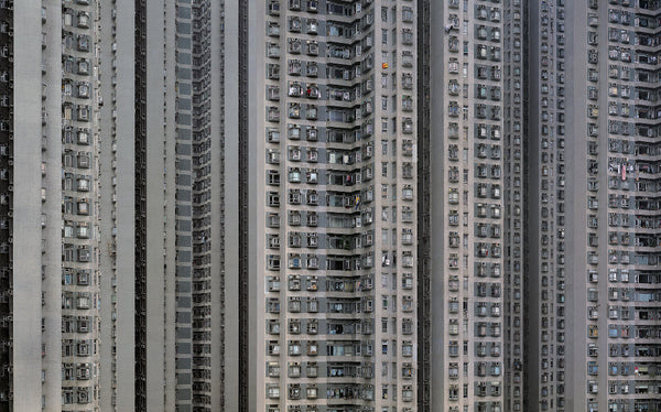 Michael Wolf - Architecture of Density 115, Chromogenic Print Mounted to Archival Substrate, Framed in Black with Plexiglass,  - Bau-Xi Gallery