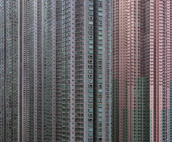 Michael Wolf - Architecture of Density 43, Chromogenic Print Mounted to Archival Substrate, Framed in Black with Plexiglass,  - Bau-Xi Gallery