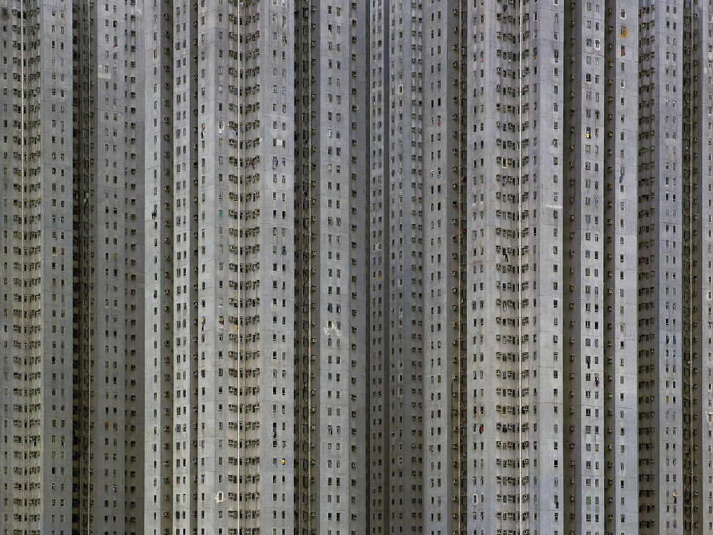 Michael Wolf - Architecture of Density 76, Chromogenic Print Mounted to Archival Substrate, Framed in Black with Plexiglass,  - Bau-Xi Gallery