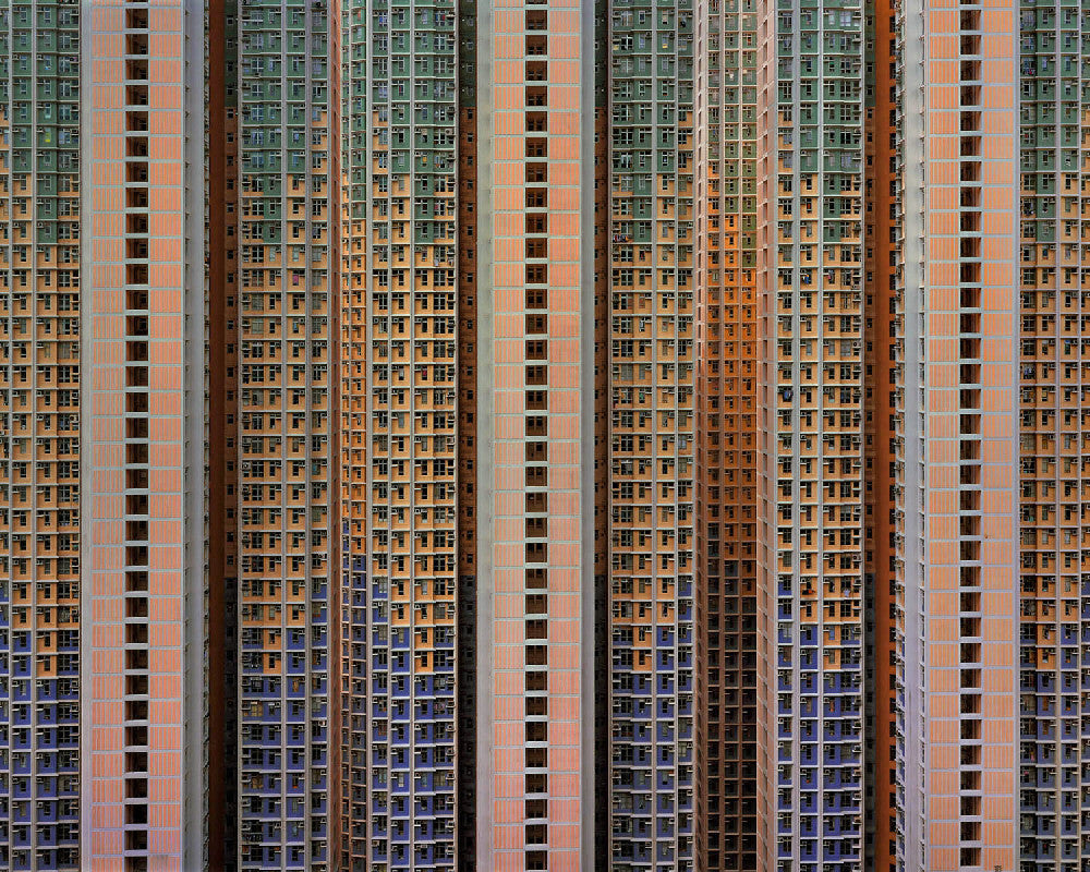 Michael Wolf - Architecture of Density 91, Chromogenic Print Mounted to Archival Substrate, Framed in Black with Plexiglass,  - Bau-Xi Gallery
