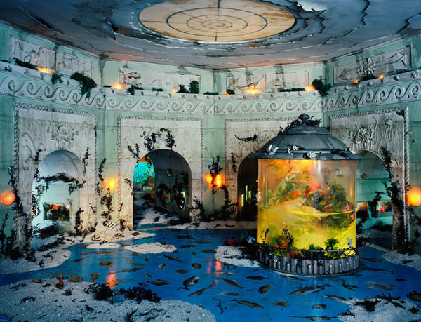 Lori Nix - Aquarium - available in 2 sizes, Chromogenic Print Mounted to Archival Substrate, Framed in White with Plexiglass,  - Bau-Xi Gallery