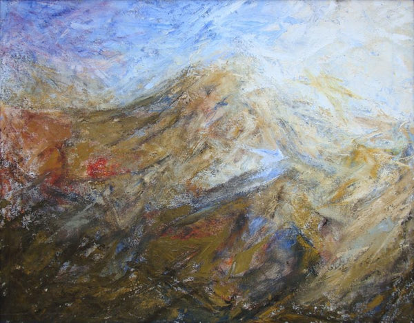 Hugh Mackenzie - Dormant Volcano, oil on canvas, Framed,  - Bau-Xi Gallery
