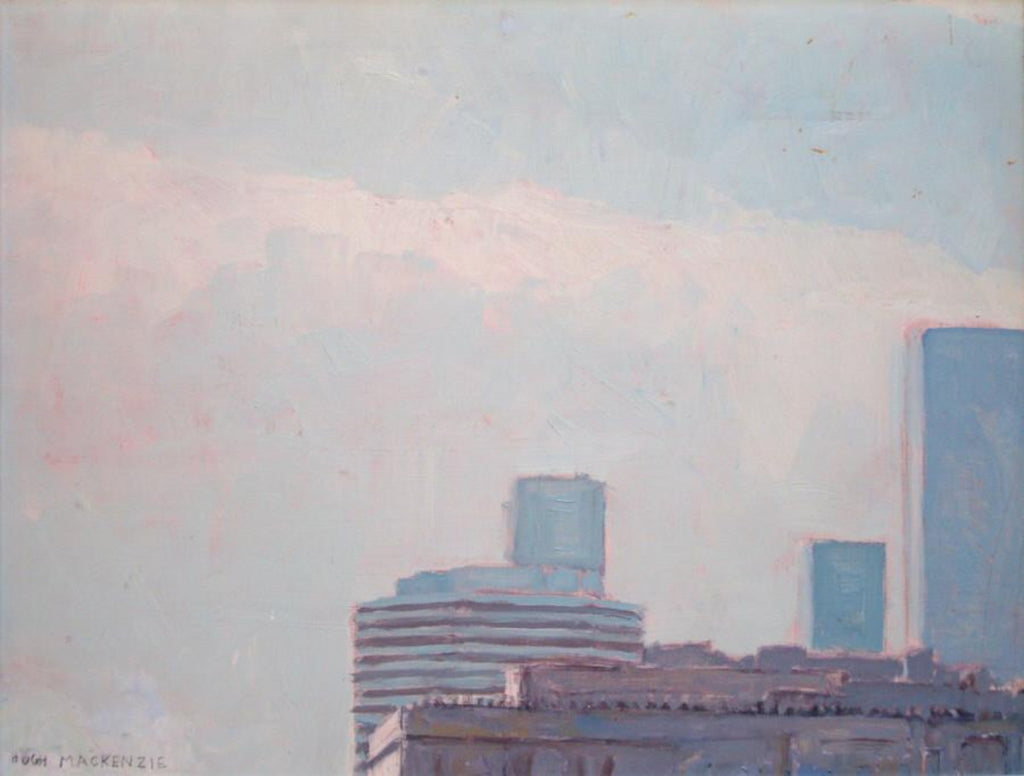 Hugh Mackenzie - Skyline, Oil on Masonite, framed, Framed,  - Bau-Xi Gallery