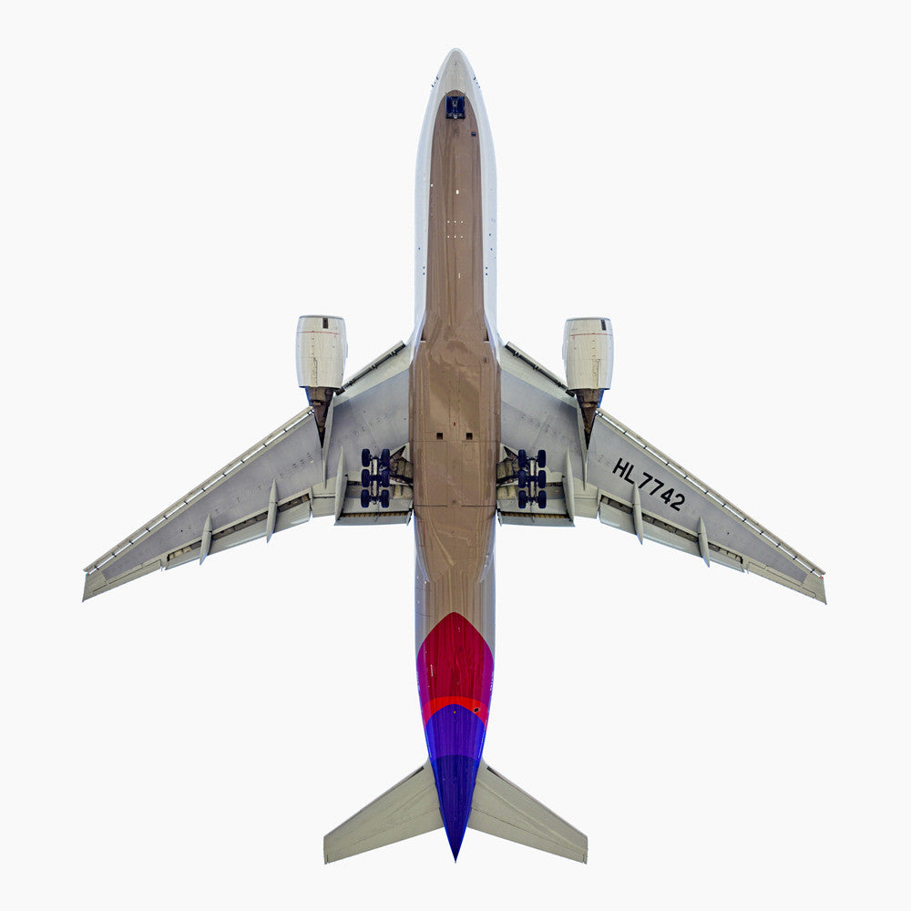 Jeffrey Milstein - Asiana Boeing 777-200 - Available in 5 sizes, Archival Inkjet Print Mounted on Archival Substrate, Framed in White with Plexiglass,  - Bau-Xi Gallery