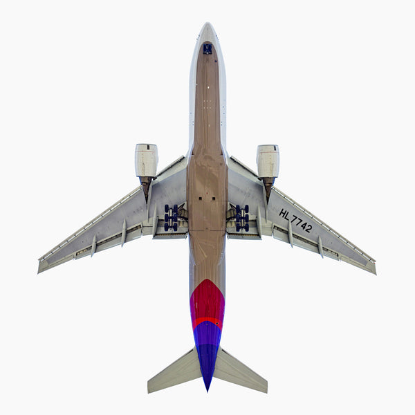 Jeffrey Milstein - Asiana Boeing 777-200, Archival Inkjet Print Mounted on Archival Substrate, Framed in White with Plexiglass,  - Bau-Xi Gallery