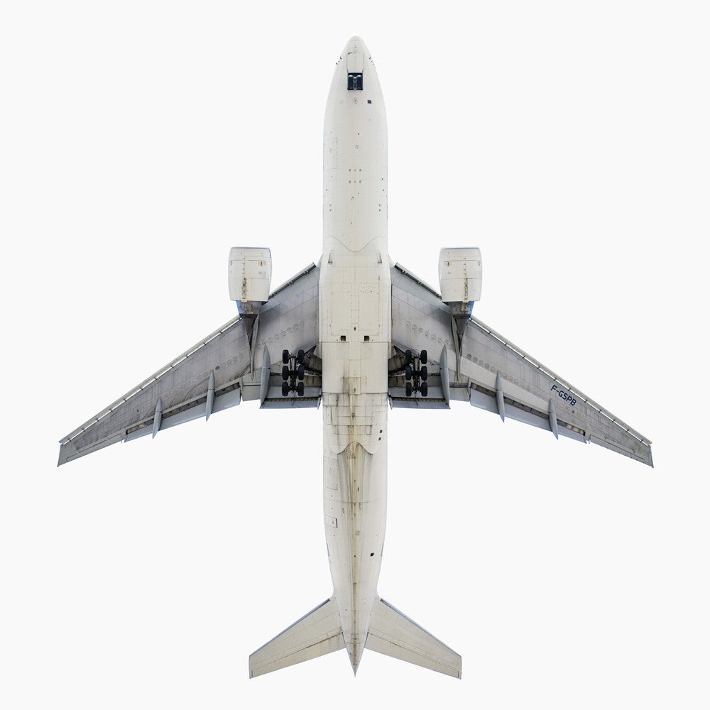 Jeffrey Milstein - Air France Boeing 777-200 - Available in 5 sizes, Archival Inkjet Print Mounted on Archival Substrate, Framed in White with Plexiglass,  - Bau-Xi Gallery