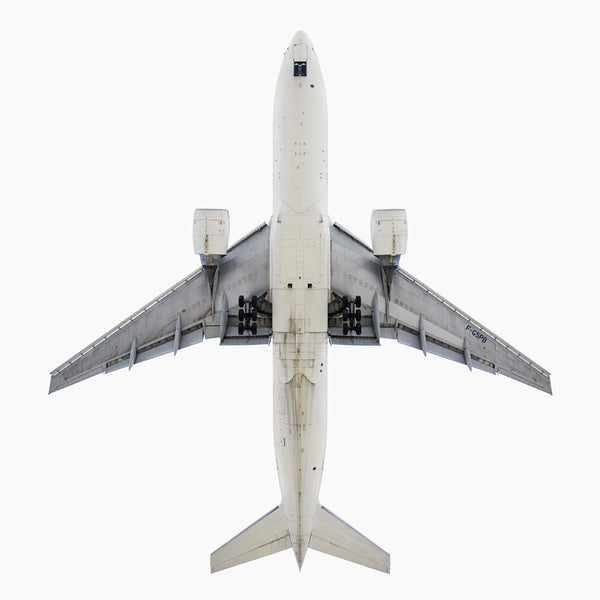 Jeffrey Milstein - Air France Boeing 777-200, Archival Inkjet Print Mounted on Archival Substrate, Framed in White with Plexiglass,  - Bau-Xi Gallery