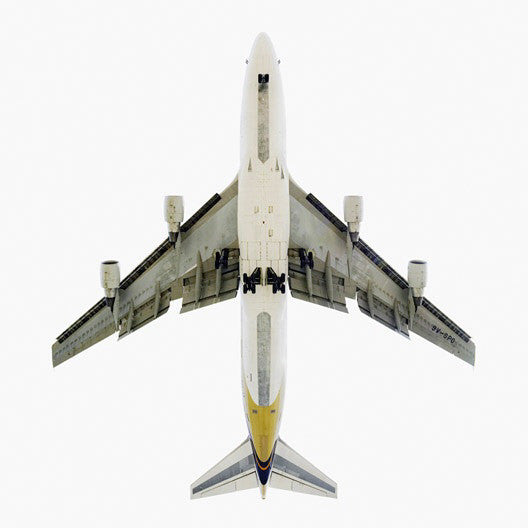 Jeffrey Milstein - Singapore Airlines Boeing 747-400, Archival Inkjet Print Mounted on Archival Substrate, Framed in White with Plexiglass,  - Bau-Xi Gallery