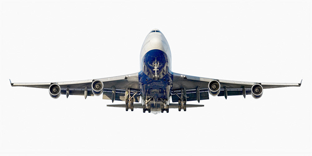Jeffrey Milstein - British Airways Boeing 747-400 (front view), Archival Inkjet Print Mounted on Archival Substrate, Framed in White with Plexiglass,  - Bau-Xi Gallery