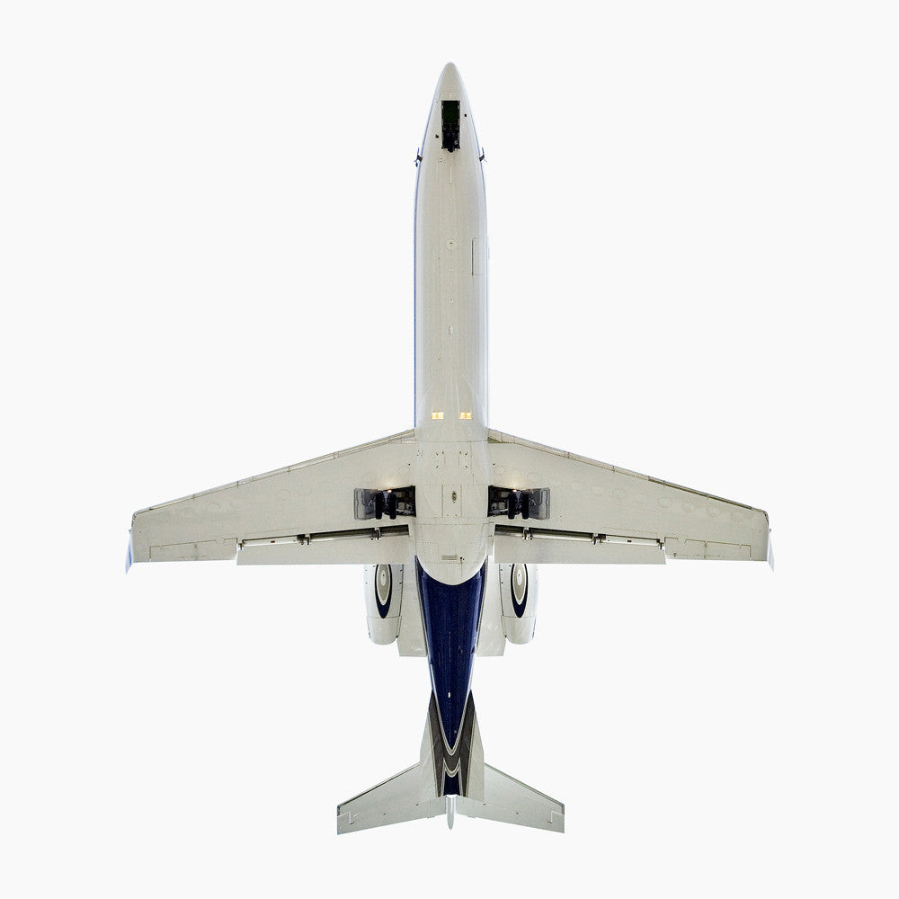 Jeffrey Milstein - Bombardier Learjet 45 - 24x24 in., Archival Inkjet Print Mounted on Archival Substrate, Framed in White with Plexiglass,  - Bau-Xi Gallery