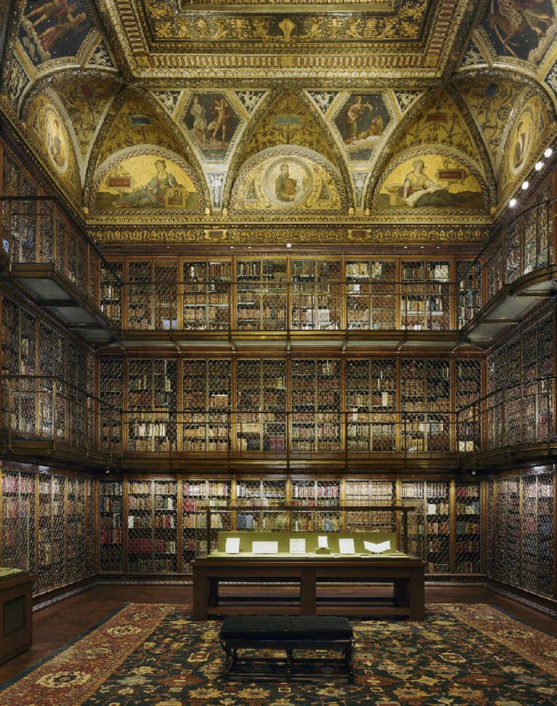 David Leventi - Morgan Library & Museum, New York, NY, Fujicolor Crystal Archive Print Mounted on Archival Substrate, Framed in White with Plexiglass,  - Bau-Xi Gallery