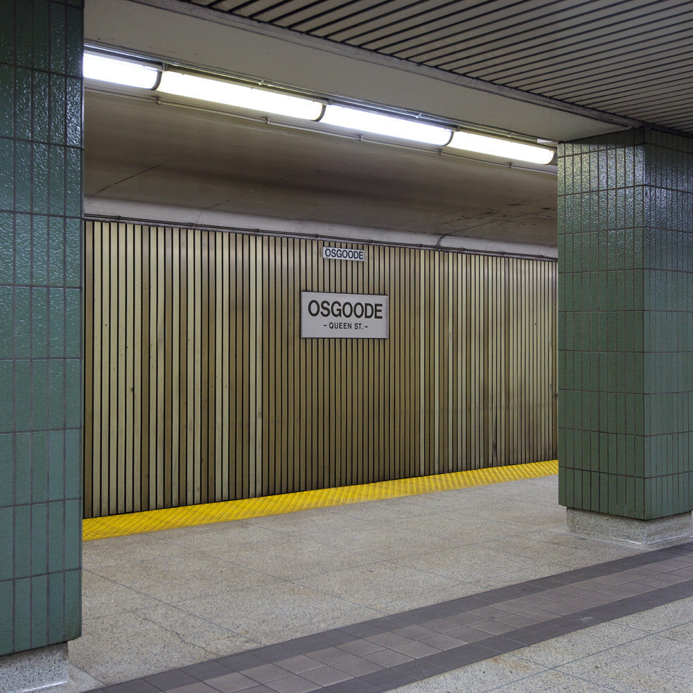 Chris Shepherd - Osgoode Station - Queen Street, Southbound - 3 sizes, $1,550-$5,000, Chromogenic Print Mounted to Archival Substrate, Framed in White with Glass,  - Bau-Xi Gallery
