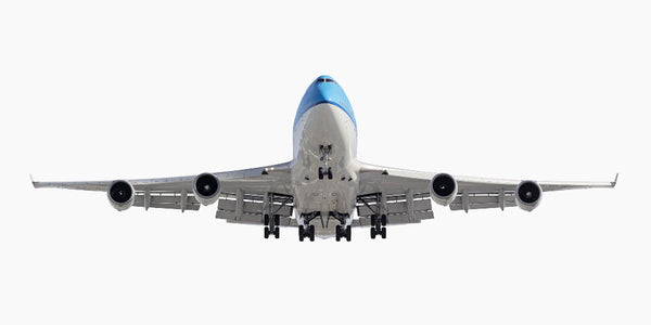 Jeffrey Milstein - Air France KLM Boeing 747-400, Archival Inkjet Print Mounted on Archival Substrate, Framed in White with Plexiglass,  - Bau-Xi Gallery