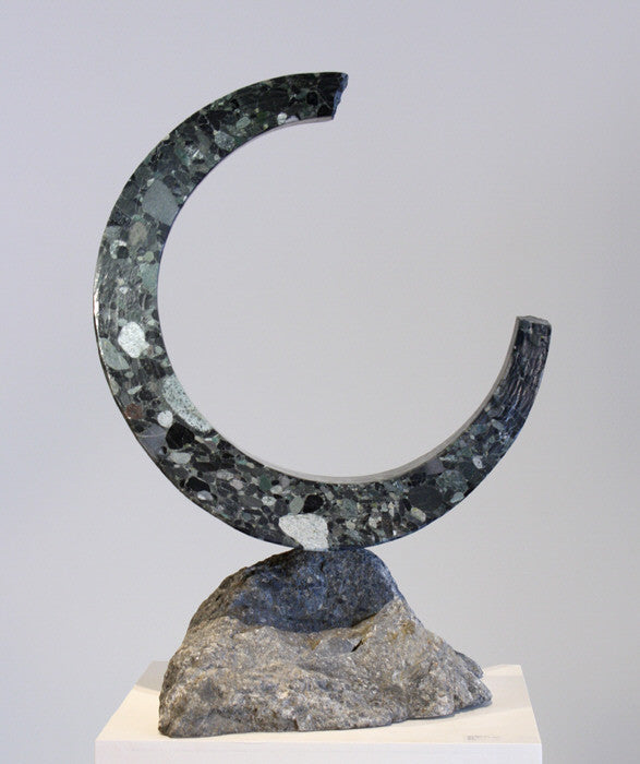 Will Robinson - Moon Over River Water, Stone, Free Standing,  - Bau-Xi Gallery
