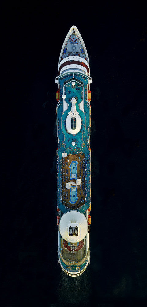 Jeffrey Milstein - Royal Caribbean Majesty of the Seas - Available in 3 sizes, Archival Inkjet Print Mounted on Archival Substrate, Framed in White with Plexiglass,  - Bau-Xi Gallery