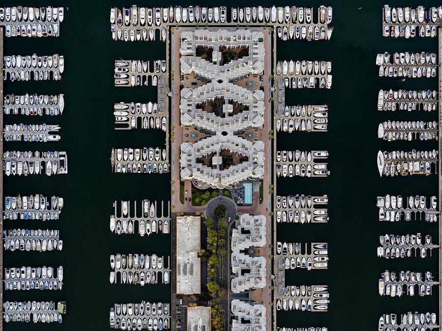 Jeffrey Milstein - LA Marina 01, Archival Inkjet Print Mounted on Archival Substrate, Framed in White with Plexiglass,  - Bau-Xi Gallery