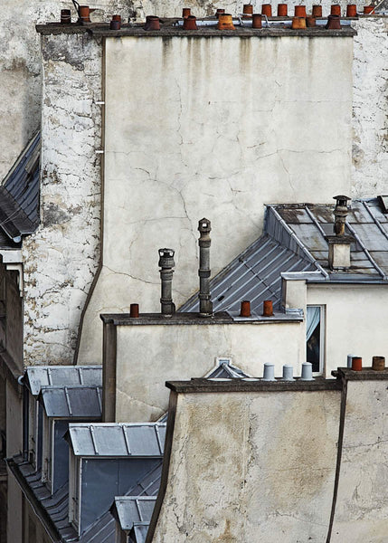 Michael Wolf - Paris Rooftops 5, Chromogenic Print Mounted to Archival Substrate, Framed in Black with Plexiglass,  - Bau-Xi Gallery