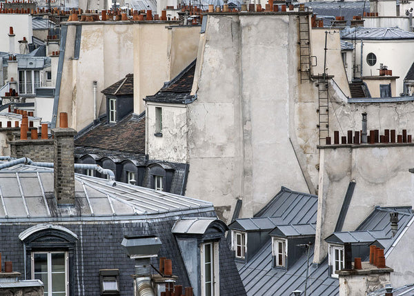 Michael Wolf - Paris Rooftops 12, Chromogenic Print Mounted to Archival Substrate, Framed in Black with Plexiglass,  - Bau-Xi Gallery