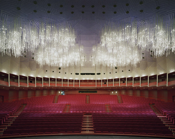 David Leventi - Teatro Regio, Turin, Italy, Fujicolor Crystal Archive Print Mounted on Archival Substrate, Framed in White with Plexiglass,  - Bau-Xi Gallery