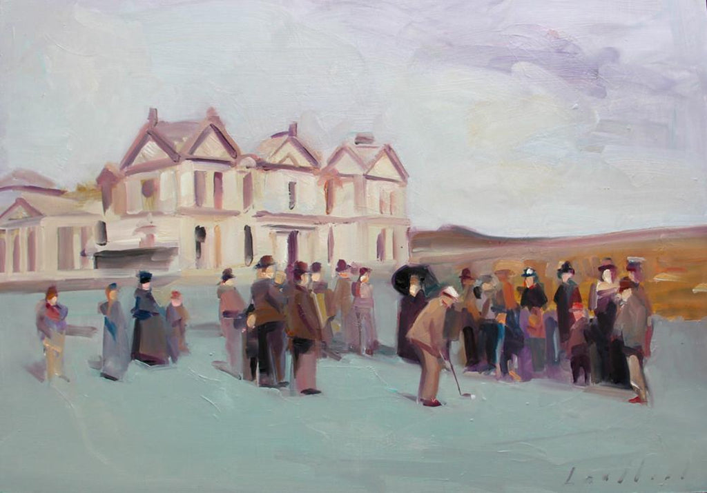 Ken Lochhead - St. Andrews, Oil on Panel, Unframed,  - Bau-Xi Gallery