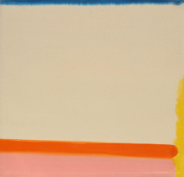Ken Lochhead - Warm Movement, Oil on Canvas, Floating in White Frame,  - Bau-Xi Gallery