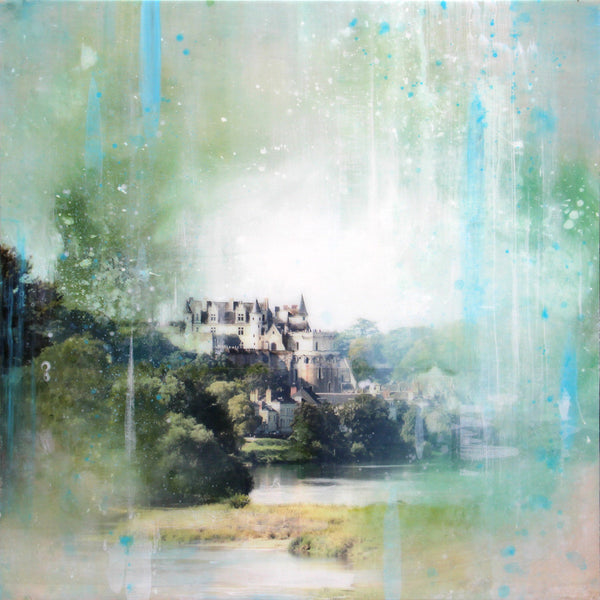 Steven Nederveen - Château Royale D'Amboise, Mixed Media on Panel with Resin, Unframed,  - Bau-Xi Gallery
