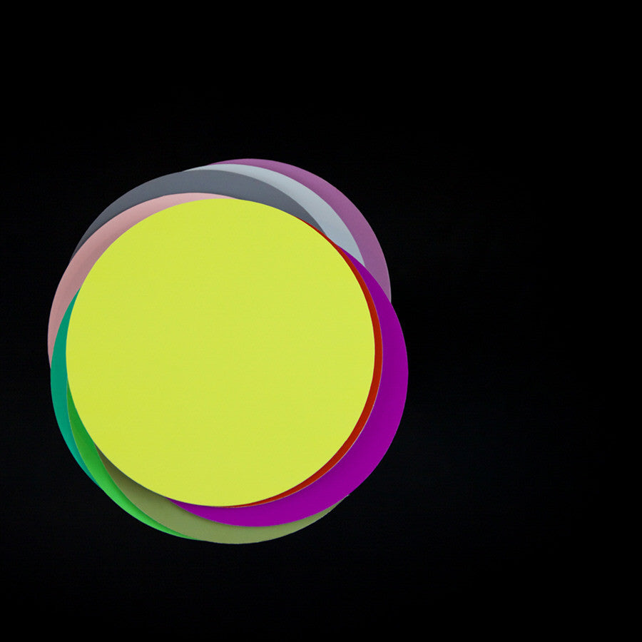 Chris Shepherd - Colour Circles on Black 2, Chromogenic Print Mounted to Archival Substrate, Framed in Black with Glass,  - Bau-Xi Gallery