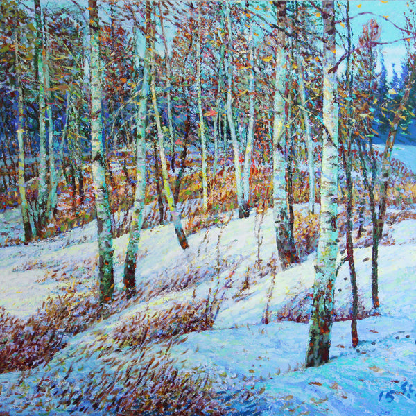 Shi Le - Baton Trail - Winter #3, Acrylic on Canvas, Unframed,  - Bau-Xi Gallery