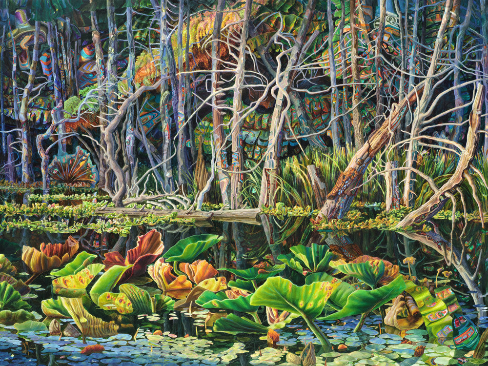 Drew Burnham - Beaver's Orchard, Thormanby, Oil & acrylic on canvas, Unframed,  - Bau-Xi Gallery