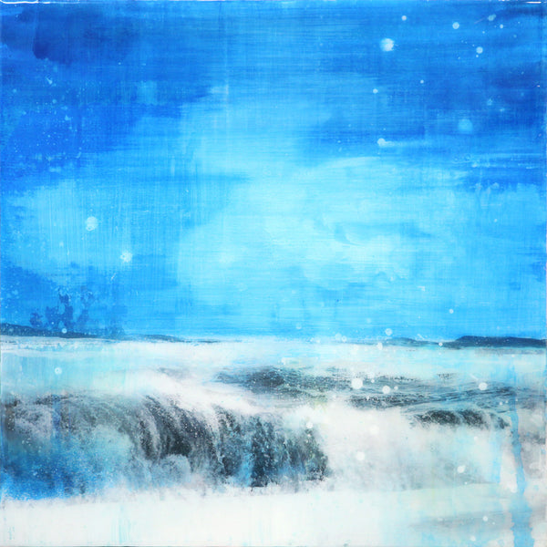 Steven Nederveen - I Dream of Waves 10, Mixed Media on Panel with Resin, Unframed,  - Bau-Xi Gallery