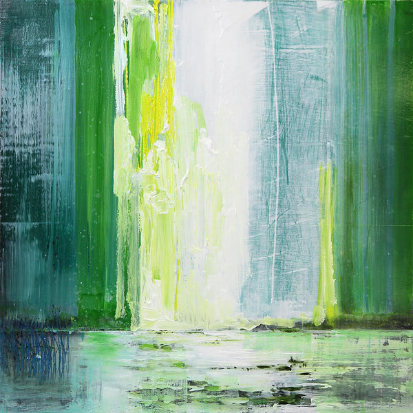 Steven Nederveen - Lake of Lilypads 1, Mixed Media on Panel, Unframed,  - Bau-Xi Gallery