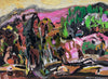 David T. Alexander - Heavy Excavation, Gentle Planting, Acrylic on Board, Framed,  - Bau-Xi Gallery