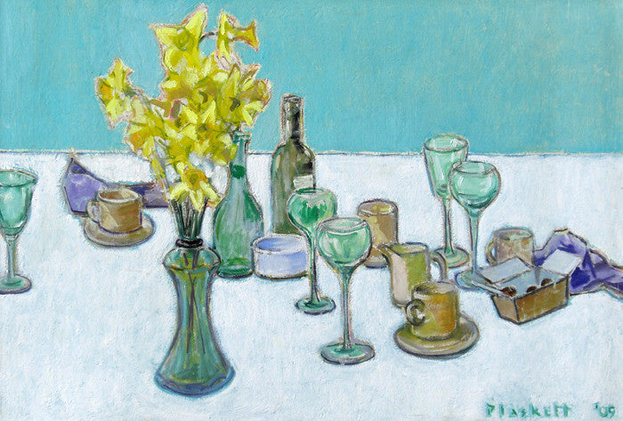 Joseph Plaskett - Remains of Easter Lunch (2), Oil on Canvas, Unframed,  - Bau-Xi Gallery