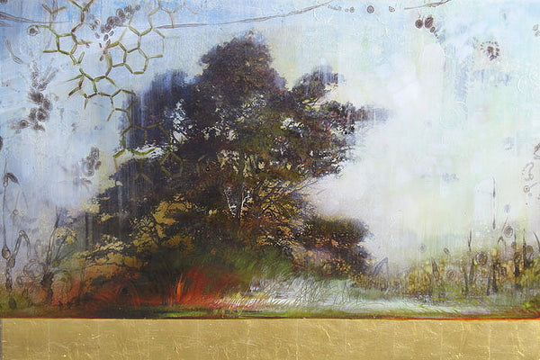 Tracey Tarling - Origins 'Grasp of Light', Mixed Media on Panel, Unframed,  - Bau-Xi Gallery