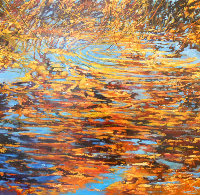 Ken Wallace - Still Creek Return, acrylic on canvas, Unframed,  - Bau-Xi Gallery