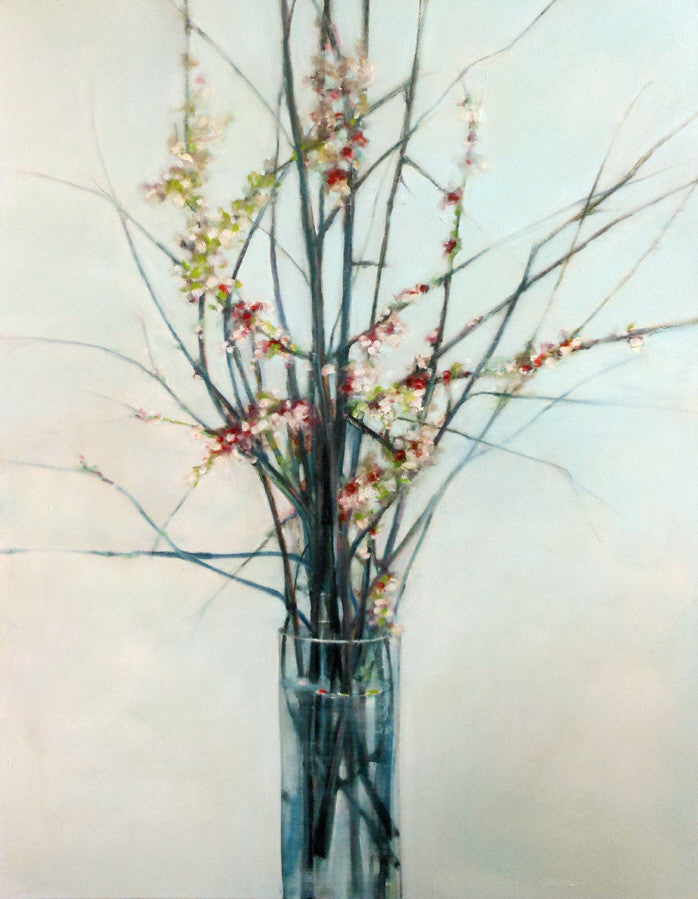 Stuart Slind - Opening Blossums, Oil on Canvas, Unframed,  - Bau-Xi Gallery