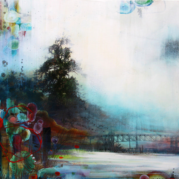 Tracey Tarling - Distant Shores #1, Mixed Media on Panel, Unframed,  - Bau-Xi Gallery
