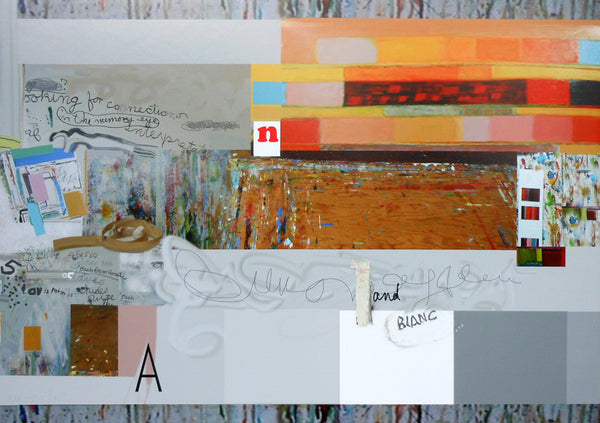 Sylvia Tait - Wall Piece 5, Mixed Media, Framed in White with Glass,  - Bau-Xi Gallery