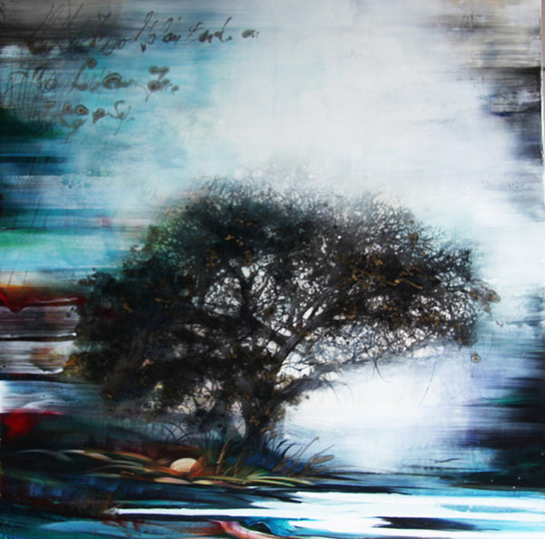 Tracey Tarling - Dwell in the Selfsame Tree, Mixed Media on Panel, Unframed,  - Bau-Xi Gallery