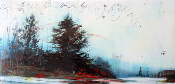 Tracey Tarling - Written on the Heart-Two Birds on the Self Same Tree, Mixed Media on Panel, Unframed,  - Bau-Xi Gallery