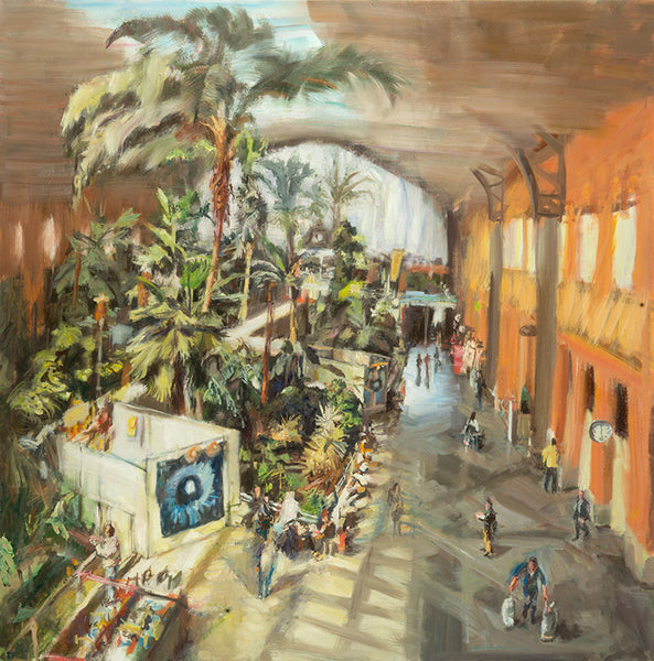 Val Nelson - Atocha Station, Oil on Canvas, Unframed,  - Bau-Xi Gallery